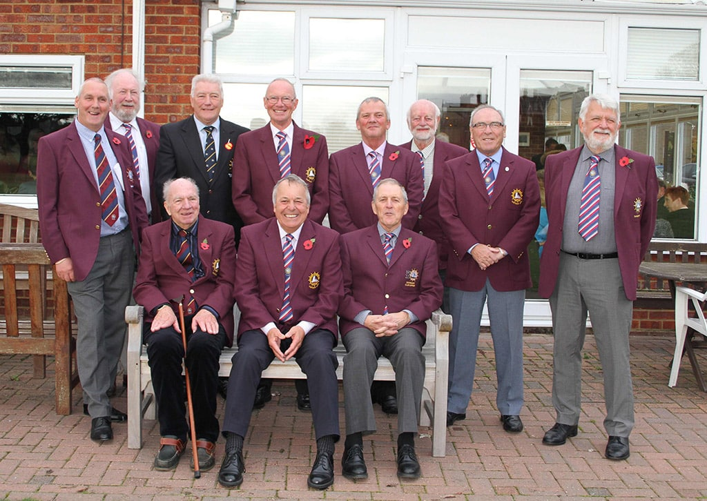 The past captains (and the new captain) gather for a photograph to mark the drive in of the new club captain